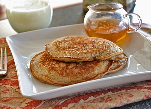 Best stinking low-carb pancakes I've ever tasted. And I've tried quite a few. I didn't have cottage cheese, so I used ricotta instead. Sooooo good.