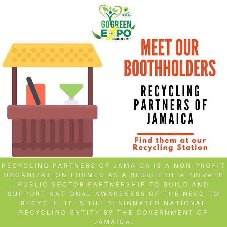 Meet the Boothholders: @recyclingpartners will be at the #GoGreen Expo THIS SATURDAY @ the Merl Grove High School Auditorium! Come on out and learn more about recycling and how you can do your part!      #climatechange #renewableenergy #climate #sustainability #jamaica #jamaican #caribbean #carbonfootprint #ourearth #ourenvironment #educateyourself #protectourplanet #reducereuserecycle #ourfootprintja #ourfpja