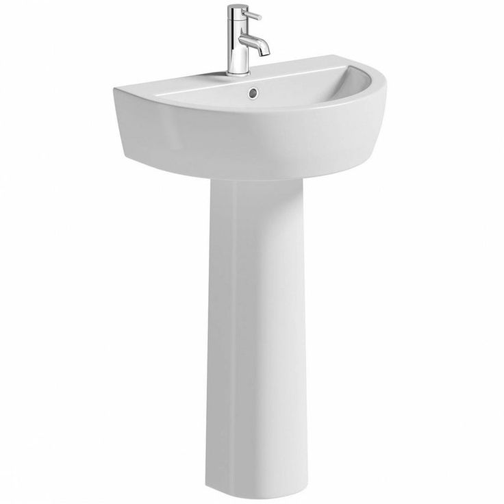 Mode Tate 1 tap hole full pedestal basin 550mm | VictoriaPlum.com