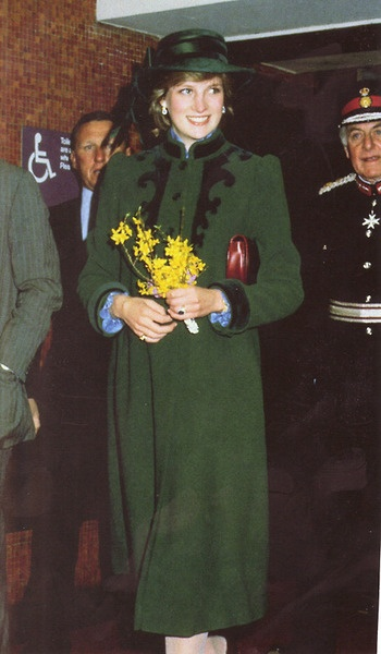 March 29, 1982: Princess Diana accompanied Prince Charles to open a new wing at St. Gemma's hospice, Harrogate Road, Leeds, Bristol