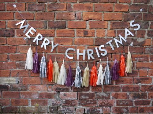 It's a wonderful life when you have ZUZU large tassel garland - Merry Christmas everybody!  Letter banner + tassel garland  Christmas decor by Paper Street Dolls  Check out our shop for more decor ideas!  - paperstreetdolls.etsy.com
