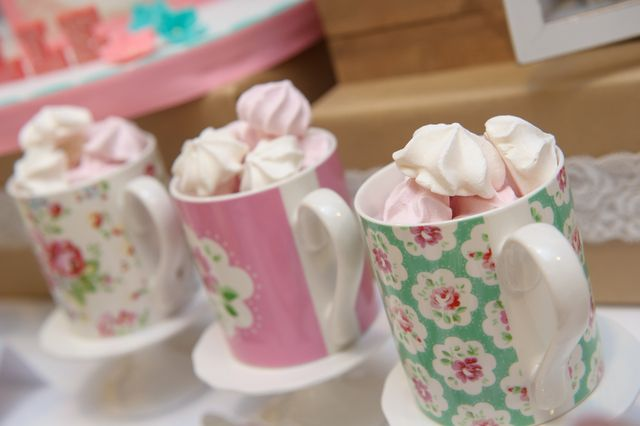 Cathe Kidston mugs at a vintage travel party!  See more party ideas at CatchMyParty.com!