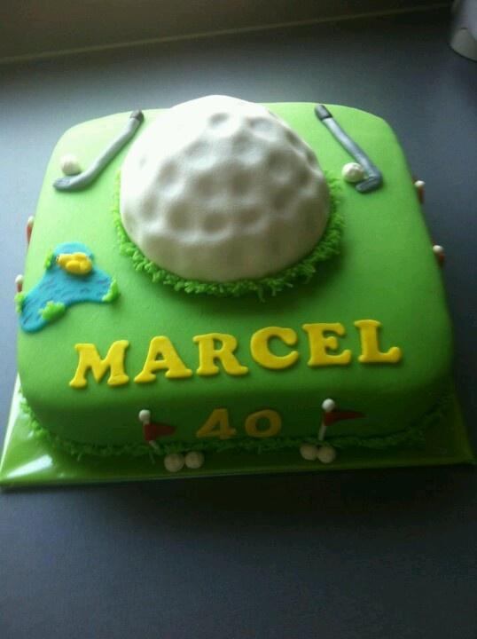 Golf taart