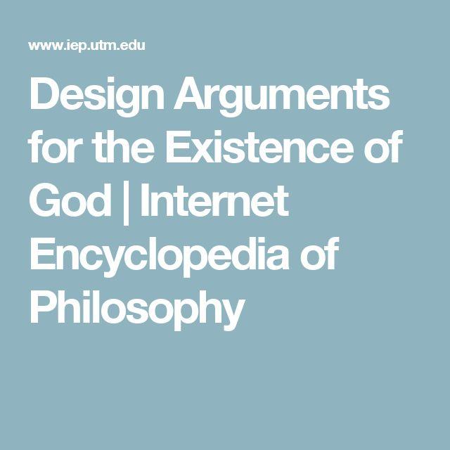 Design Arguments for the Existence of God