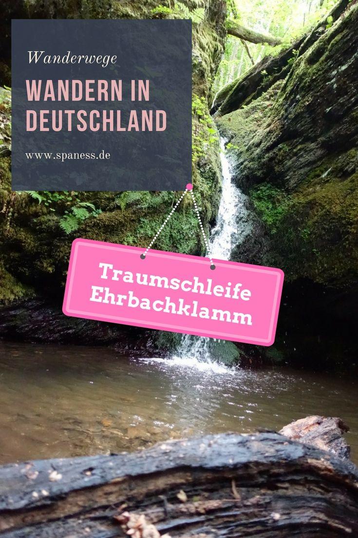 Wandern Deutschland - Traumschleife Ehrbachklamm Rheinland Pfalz.