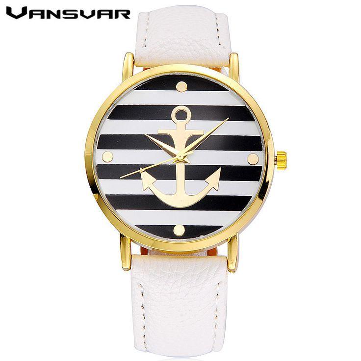 Fashion Leather strap Anchor Watches Casual Women Wristwatch Luxury Quartz Watch