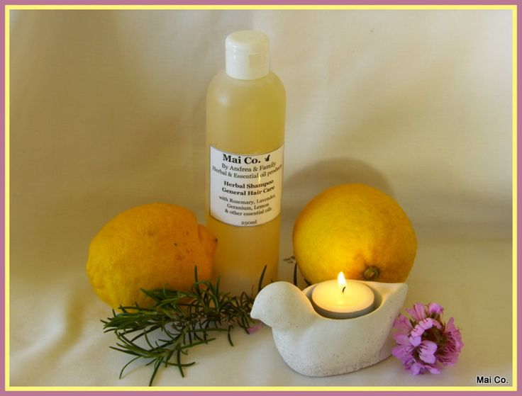 Mai Co General Hair Care Shampoo Made with oils of Lavender, Lemon, Rose Geranium and Rosemary.  For Normal hair.
