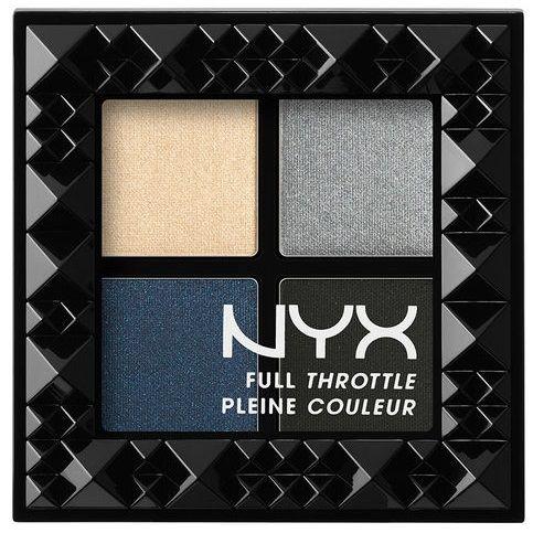 Έντονο χρώμα και αμέτρητες επιλογές! Η νέα παλέτα σκιών από τη ΝΥΧ, Full Throttle Shadow Palette διαθέτει 4 αποχρώσεις, με έντονη pigmented σύσταση, που θα σου χαρίσουν απεριόριστα, διαφορετικά looks! Η Haywire περιέχει μπλε και ανθρακί τόνους, με ματ και shimmering τελείωμα! Tip: