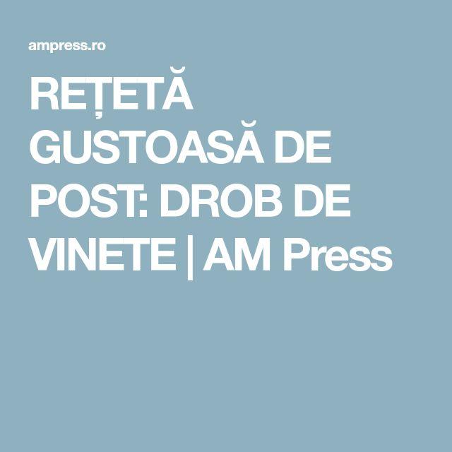 REȚETĂ GUSTOASĂ DE POST: DROB DE VINETE | AM Press