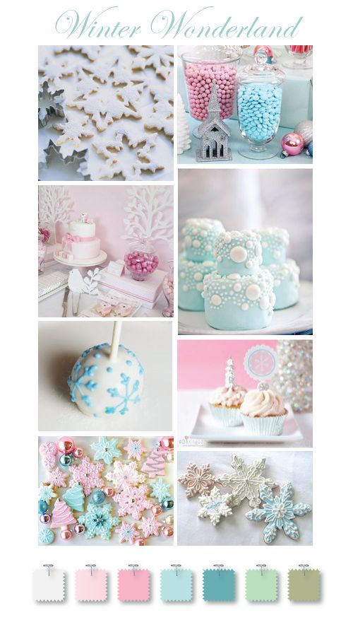 vintage inspired pastels: Winter Parties, Christmas Cookies, Birthday Parties, Winter Wonderland, 1St Birthday, Colors Palettes, Colors Schemes, Aqua Christmas, Colour Schemes