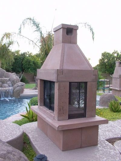Perfect Outdoor Fireplace See Thru