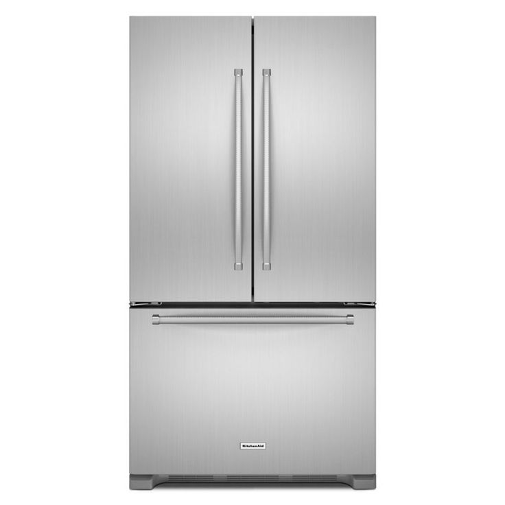 KitchenAid 20-cu ft Counter-Depth French Door Refrigerator with Ice Maker (Stainless steel) ENERGY STAR