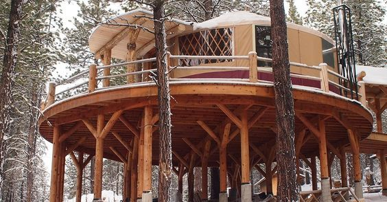 Yurt on Stilts - This is MY idea of camping.