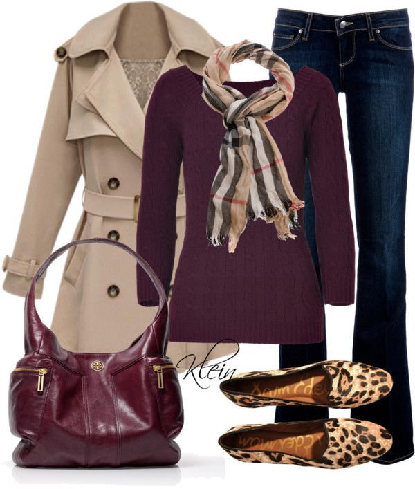 """""""Fall Outfit: Shades of wine"""" by stacy-klein on Polyvore: Fall Plum, Scarfs Outfits, Wine Outfits, Leopards Shoes, Jeans Outfits, Casual Outfits Wine, Profess Fall Outfits, Purple Fall Outfits, Leopards Flats"""