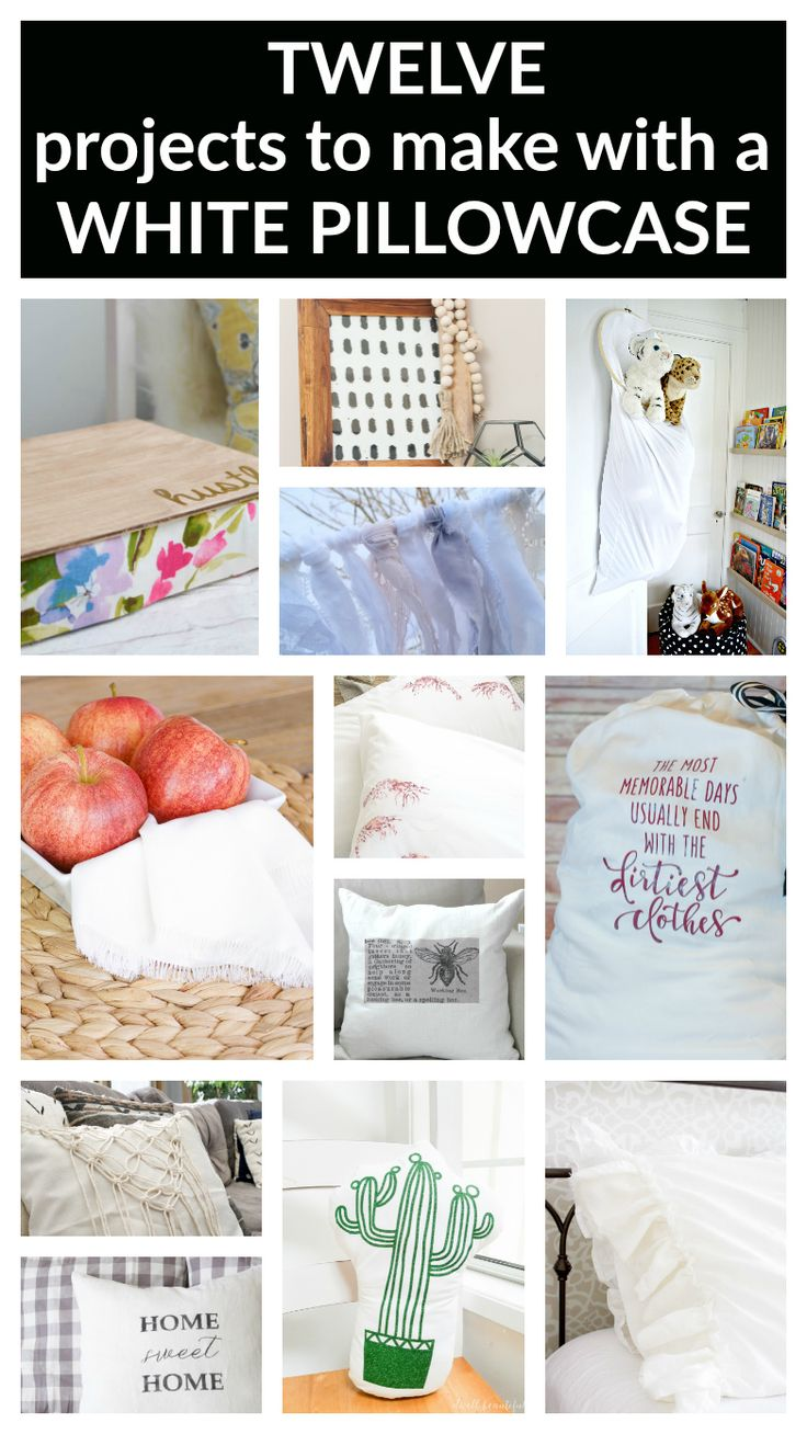 Plain white pillowcases for crafts - Diy Travel Laundry Bag From A Pillowcase