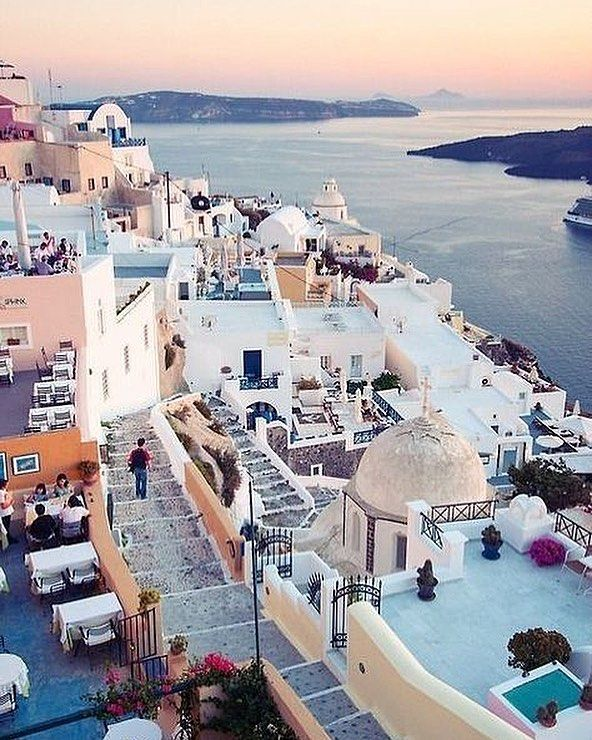 Did you know Santorini is a volcano?  The crater is underwater off the shores of this incredible place. There are beaches with red black and white lava on the island.  credit to @thesundaychapter    _________________  #santorini #wanderlust #ig_travel #travel #traveladdict #tlpicks #explore #traveler #traveling #travelgoals #bucketlist #gltlove #travelfact #travelfacts #girlslovetravel #thetravelgirltribe #digitalnomad #didyouknow #volcano #oia #greece #lifewelltravelled #instatravel…
