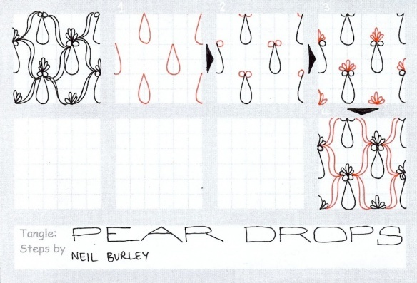 Pear Drops – tangle pattern