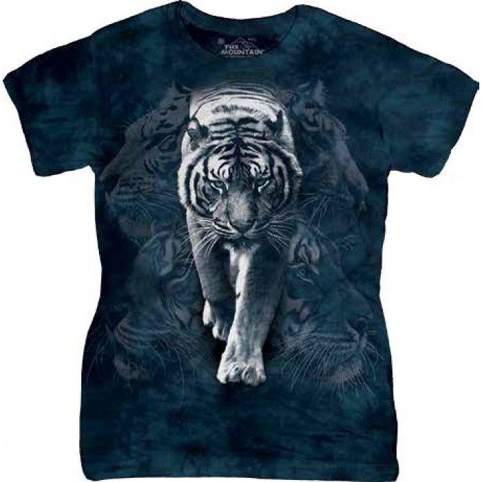 Tricouri The Mountain – Tricou White Tiger Stalk Dama