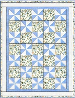 Pinwheel Plus One - 3 yard quilt Downloadable Pattern