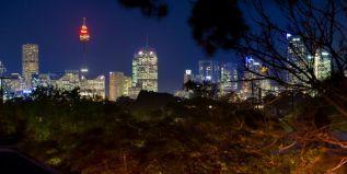 city skyline views, dusk