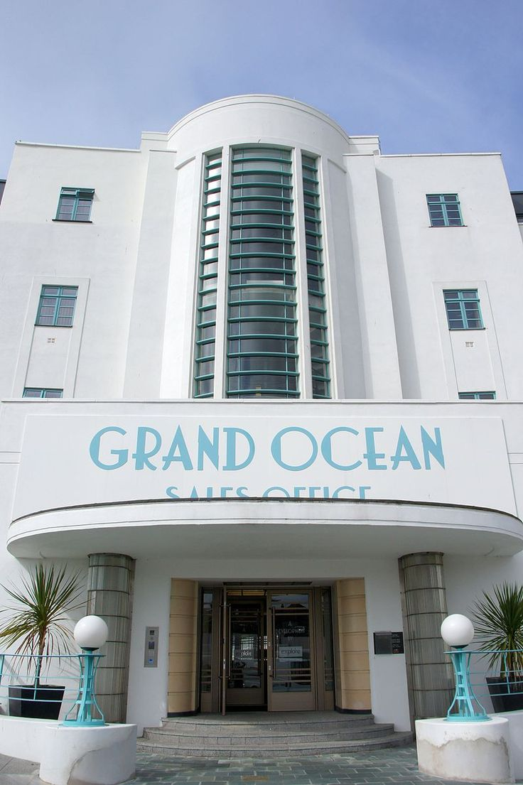 """Grand Ocean Hotel, Saltdean- setting frequently used for the tv series, """"Poirot."""""""