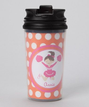 Take a look at this Orange Brown-Haired Cheerleader Personalized Tumbler by Preppy Mama on #zulily today!