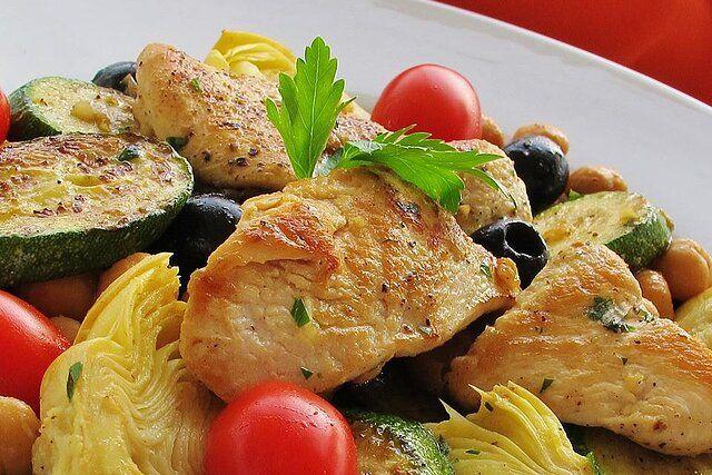 Zucchini Artichoke Summer Salad Recipe In 2020 Summer Salad Recipes Summer Salads Easy Mediterranean Diet Recipes