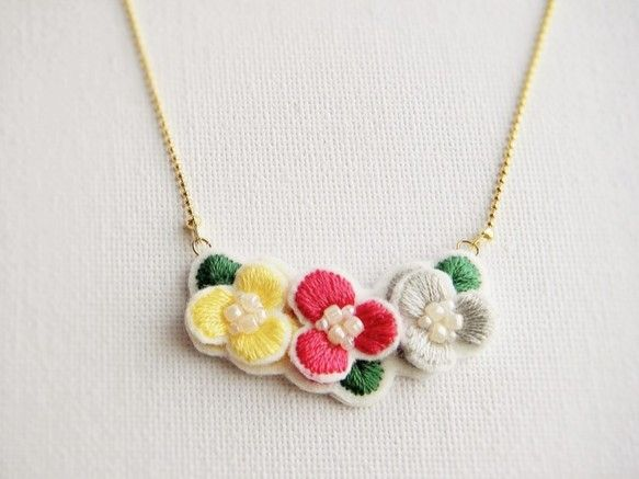 flower connect necklace 001