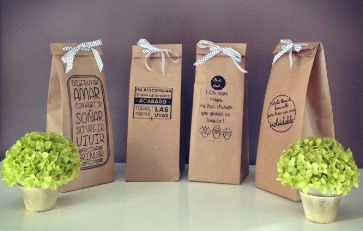 Bolsas DIY de papel para nuestras botellas de vino