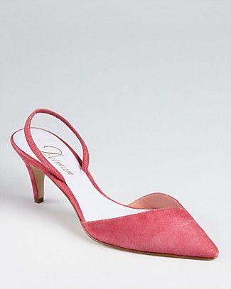 Delman Pumps - Laci Slingback Kitten Heel | Bloomingdale's