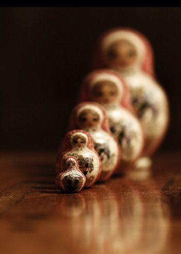 Depth of field ~ 5 piece Russian Nesting Doll set.