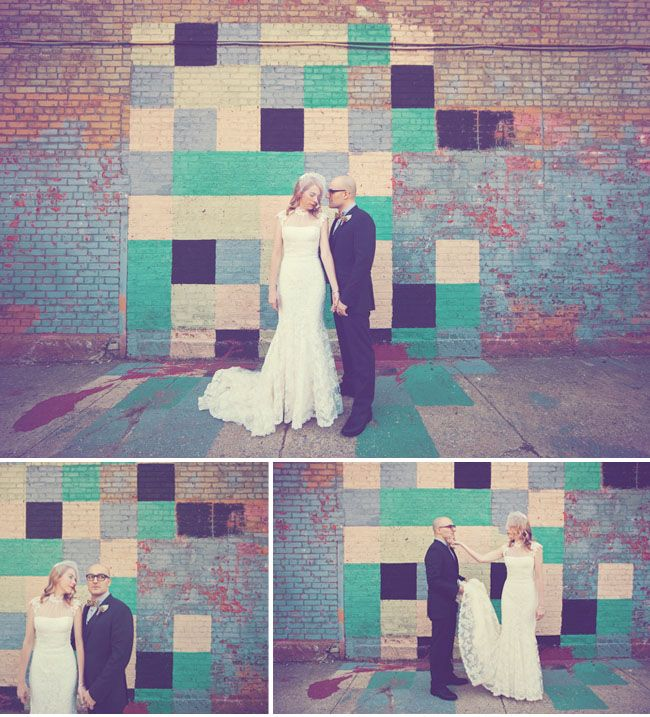Maybe make a quilt with the colors of the wedding and use it as a backdrop?(:
