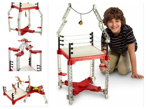 Playsets-For-Boys-Kids-Building-Set-WWE-Ring-Wrestling-Play-Stage-Game-Gift-Toy