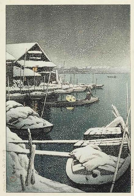[ H ] Kawase Hasui - Yuki no Mukojima (Snow at Mukojima) (1930) by Cea., via Flickr