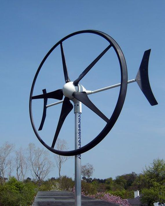 Part of growing variety of small wind machines, this turbine can turn out 1.5 kilowatts and is suitable for home roofs.