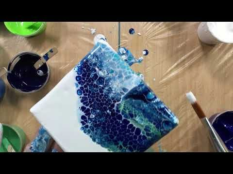 Paint Pouring For $4.44 No Pouring Medium! No Heat Required! Plenty Of Cells. Vibrant Colors - YouTube