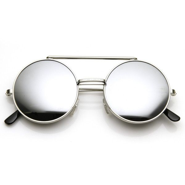 Steampunk Vintage Retro Round Circle Flip Up Sunglasses 8795 (2.620 BHD) ❤ liked on Polyvore featuring accessories, eyewear, sunglasses, retro vintage sunglasses, rounded sunglasses, round glasses, circle glasses and round sunglasses