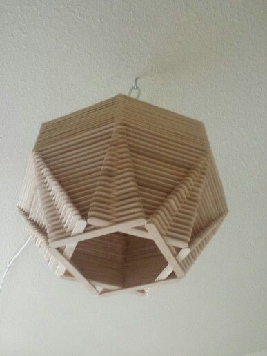 Popsicle stick globe light