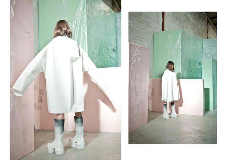 The Fashion Architect: Second year womenswear student Ernesto Naranjo shows at Madrid Fashion Week | Fashion, Fashion Show, Students, The White Series | 1 Granary