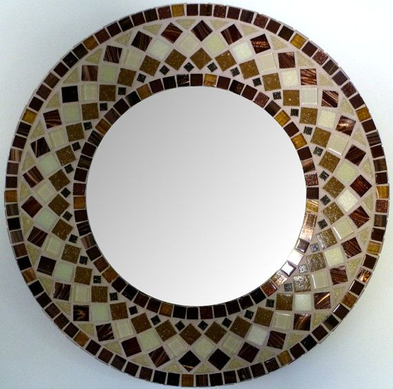 MIRROR MOSAIC round   Wall  Mirror Choose size by SunAndCraft, $69.99
