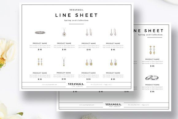 Minimalist Line Sheet Template by Marham Labeling Co on @creativemarket