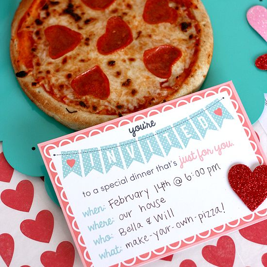 You 39 re invited to a dinner just for you kids dinner for Valentine dinner recipes kids