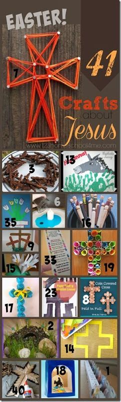41 fun, creative Easter crafts for kids - perfect kids activities for Sunday School Lessons. SO many creative ideas!!!                                                                                                                                                     Más