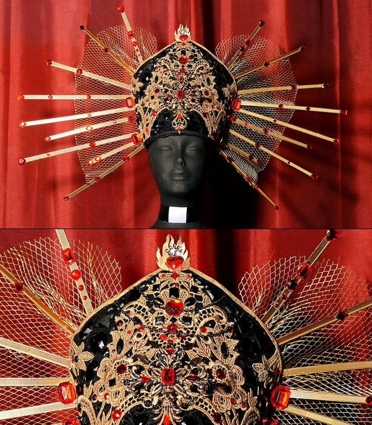Head Piece Couture Lory Sun Religious Fashion Editorial Photography Gold Headdres
