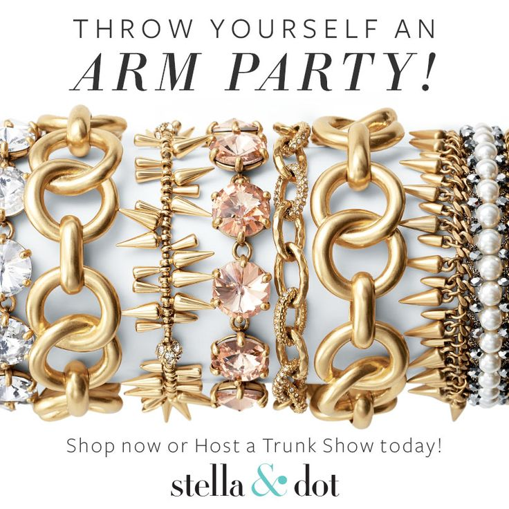 Love a good arm party! Let's get together & have a trunk show! http://www.stelladot.com/sites/denaehaas