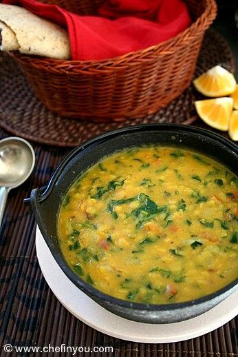 Indian Methi Dal recipe (Fenugreek leaves Dal) Recipe here: http://chefinyou.com/2013/04/methi-dal/