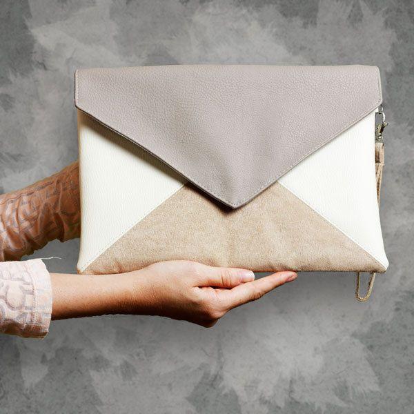"""Clutches - Clutch bag - """"Letter Medium Tricolor"""" - ein Designerstück von cocoono bei DaWanda"""