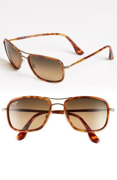 Main Image - Maui Jim 'Hawaiian Time' 56mm Polarized Aviator Sunglasses