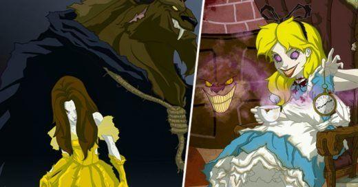 Así Es Como Luce El Lado Oscuro De Las Princesas De Disney Princesas Disney Princesas Peliculas Clasicas De Disney
