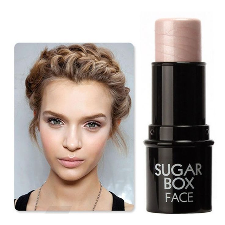 Wajah bronzer highlighter makeup tongkat shimmer menyoroti bubuk krim mencerahkan cahaya sugar box merek y7